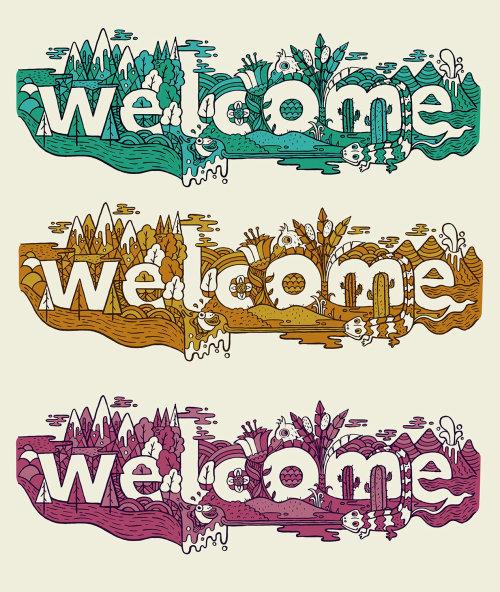 Letras de boas-vindas