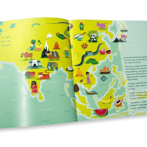 Editorial illustration of map in book