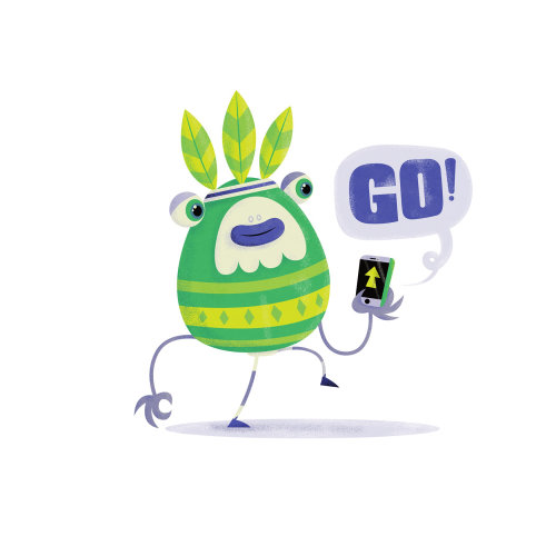 children monster with Go