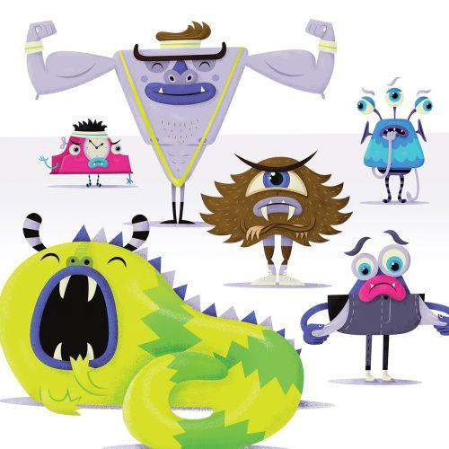 children illustration of monsters