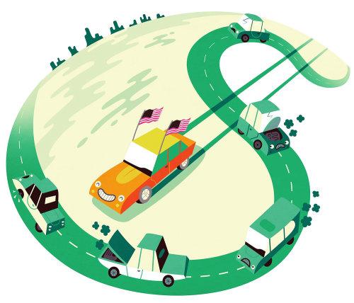 Ilustração digital da Dollar Road