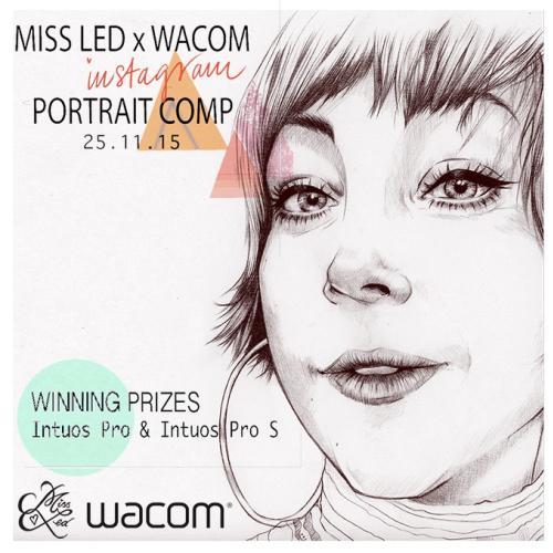 Miss Led & Wacom Portrait Competition