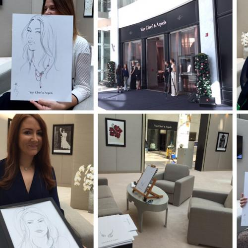 Live Portraits at Van Cleef & Arpels