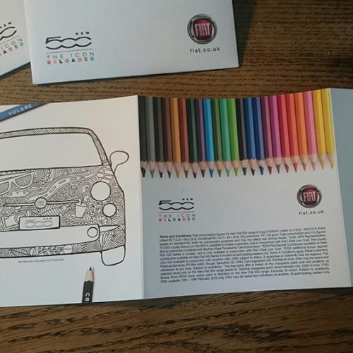 Cor em um Fiat 500
