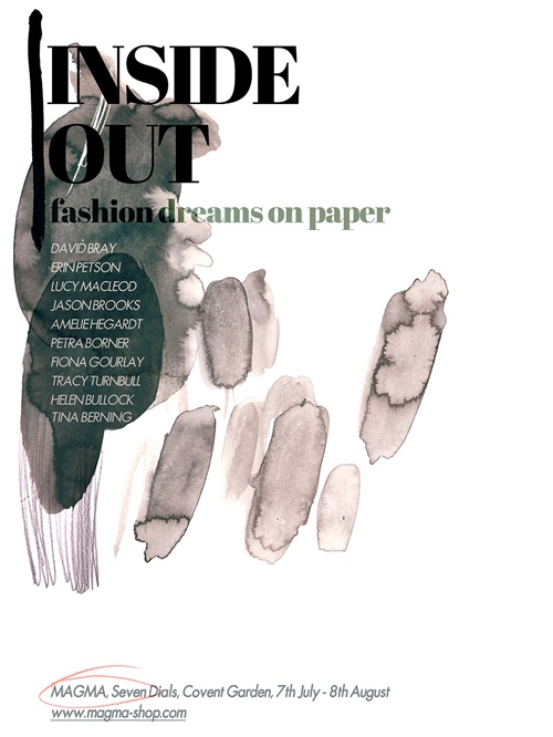 Fashion illustrators exhibits artwork in Covent Garden