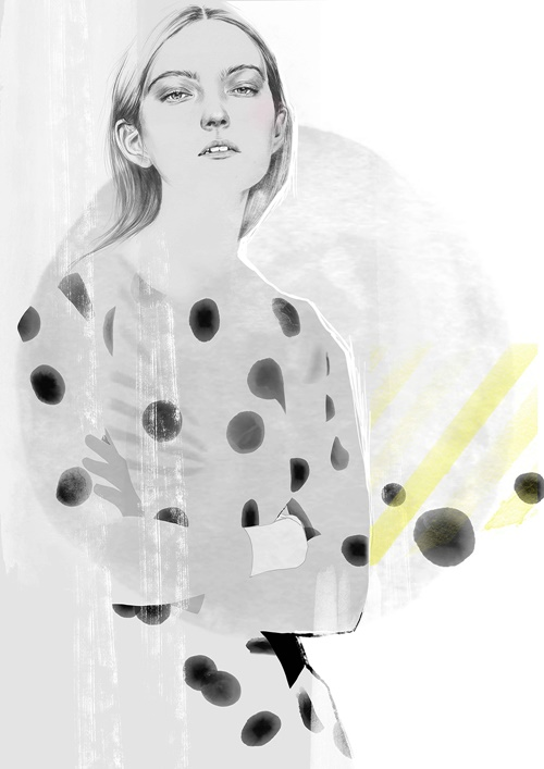Fashion illustration show in Covent Garden by Tracy Turnbull