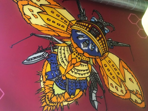 Mural artwork for Food company's new store