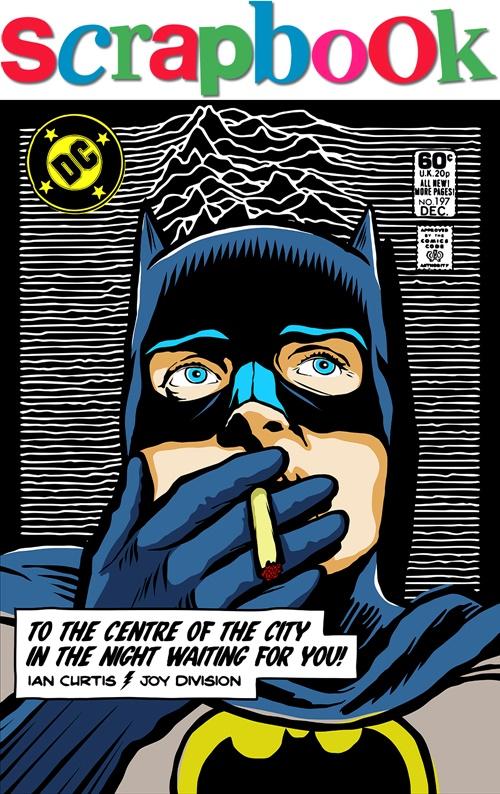Batman Illustration for Scrapbook