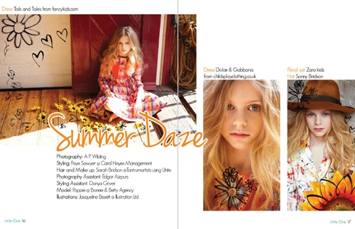 An illustration of summer daze for Little One Magazine