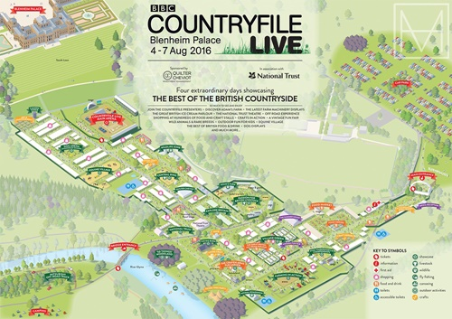An illustration for SME London to produce a map of the Countryfile Festival