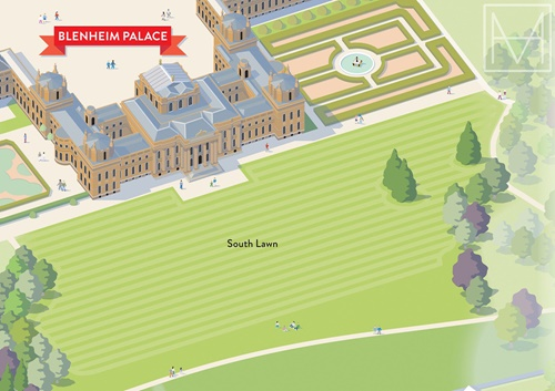 An illustration for Countryfile Live map