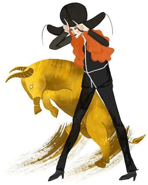 An illustration of fashion horoscope