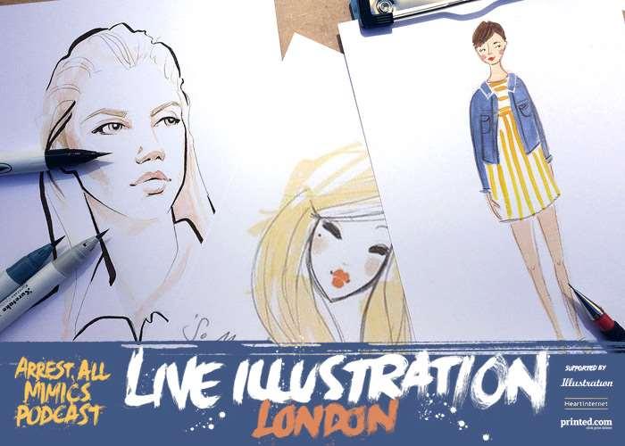 Arrest All Mimics Podcast: Live Illustration Londres