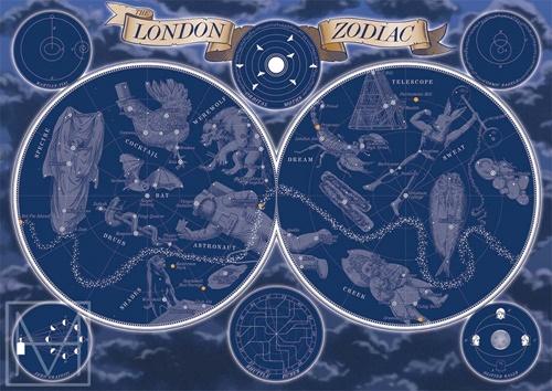 London zodiac illustrations