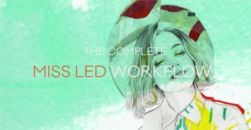 Fashion illustration work flow by Miss Led