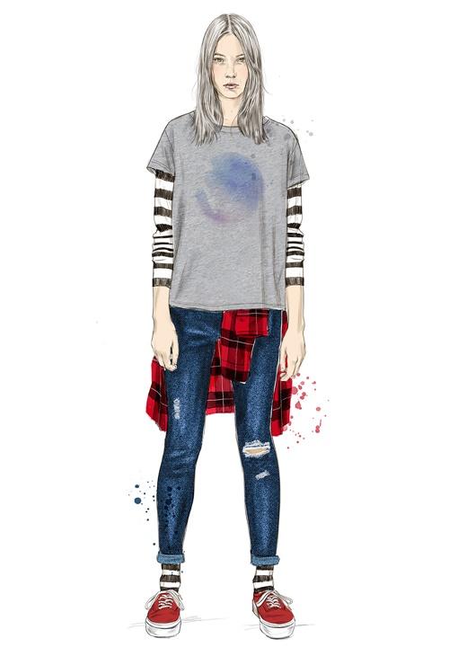 Fashion lady illustration by Tracy Turnbull