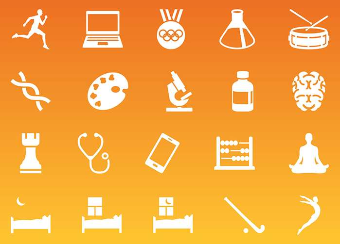 Icons Illustration for a scientific treatise