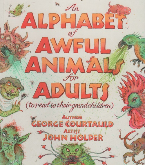 An Alphabet of Awful Animals illustration for Adults