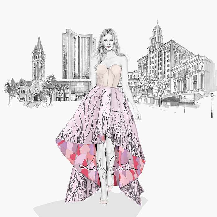 Illustration for spring fashion campaign