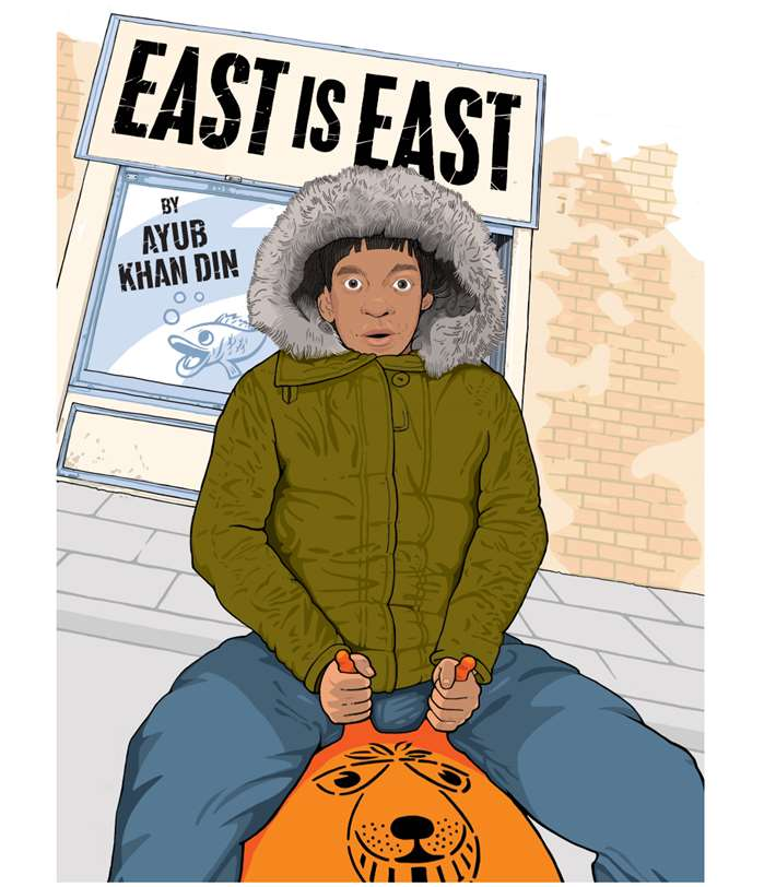 Poster for a theatre production of East is East