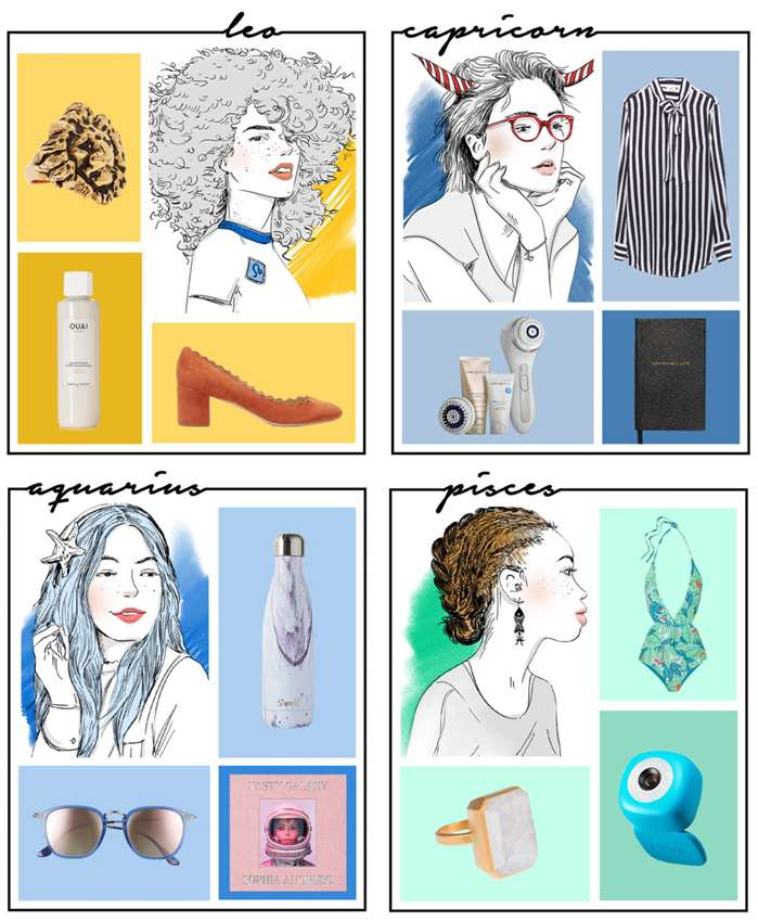 Illustration on perfect gift ideas for every astrology sign