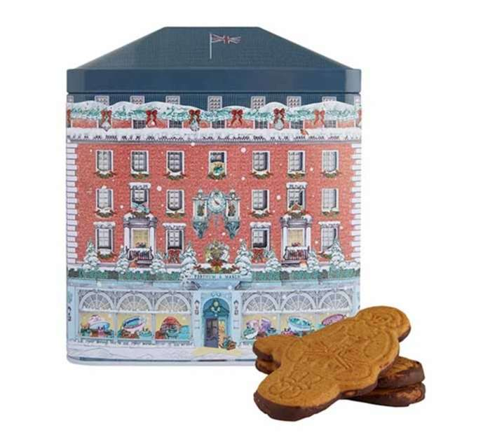 Illustration of Fortnum & Mason Piccadilly store for a gingerbread tin
