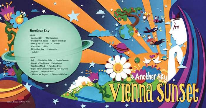 Album cover by Vicky for Vienna Sunset