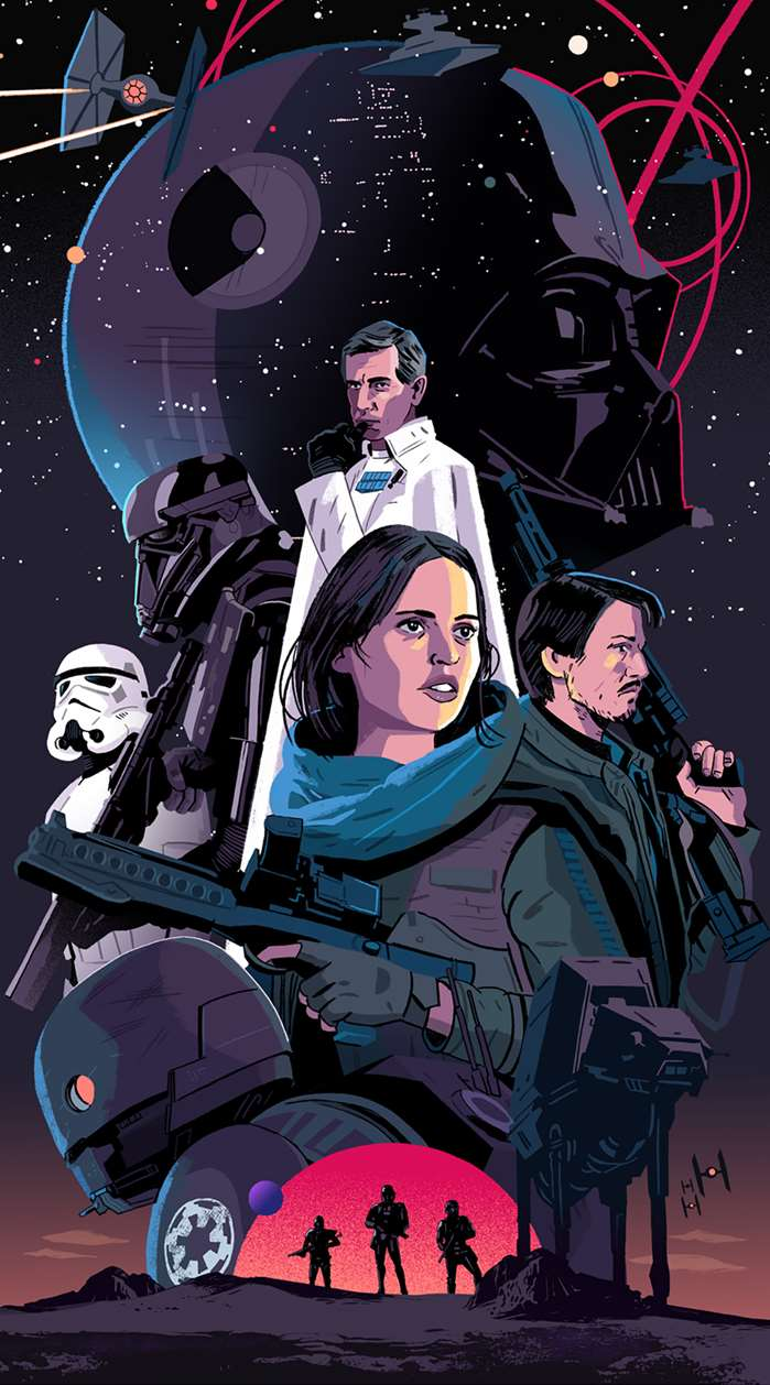 Chris King illustrates a piece for a Star Wars