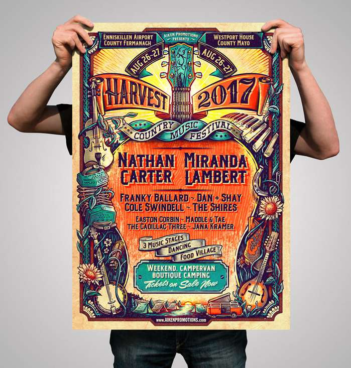 Country Music Festival poster by BoomArtwork