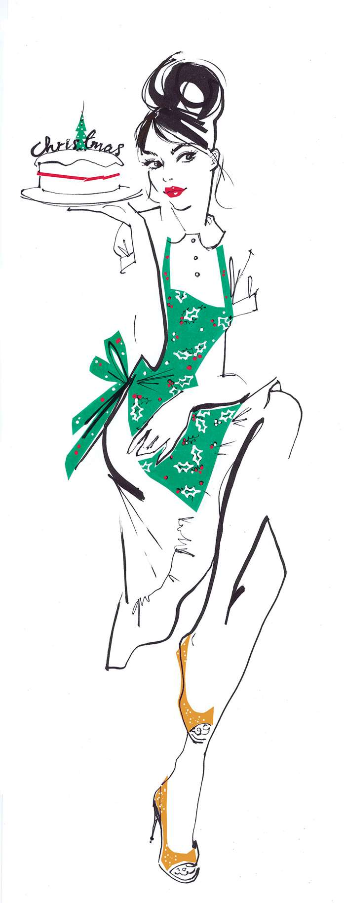 Stylish and elegant illustrations for a perfume feature in You magazine