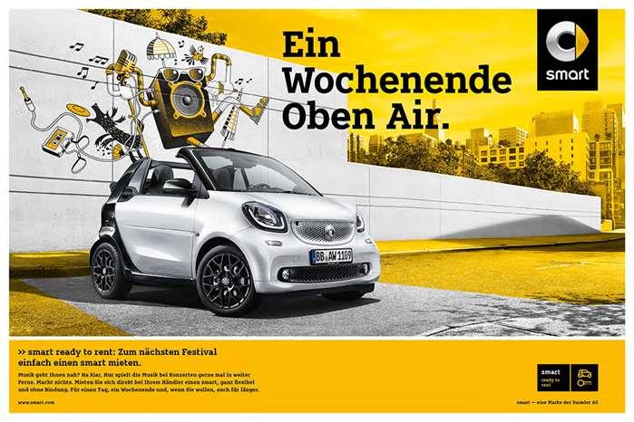 The daimler Benz smart car illustration