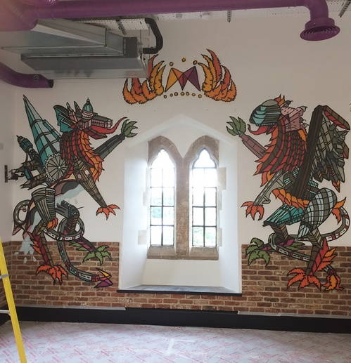 Andy Council creates a series of bespoke mural pieces