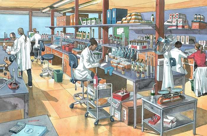 Illustration of a modern laboratory