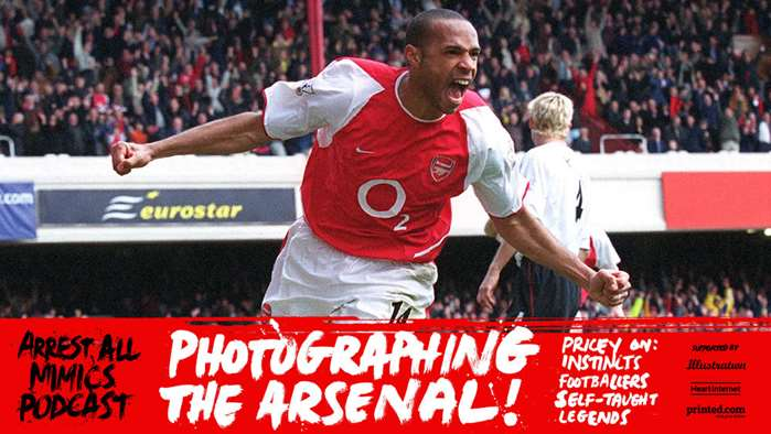 Podcast Arrest All Mimics: Photographier le club de football d'Arsenal.