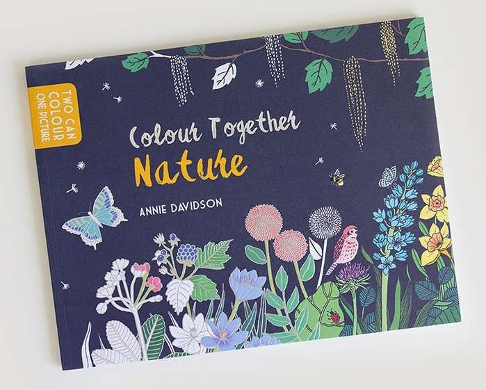 Divine nature based colouring book is illustrated by Annie Davidson