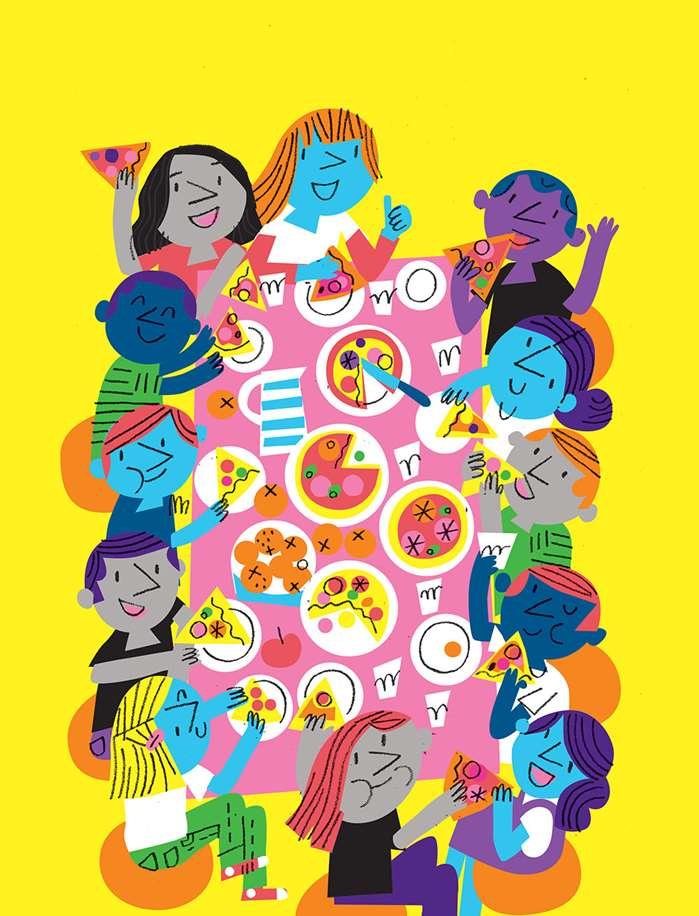 Feeling Good: Peter Allen does some well-being illustrations for the Cancer Research UK