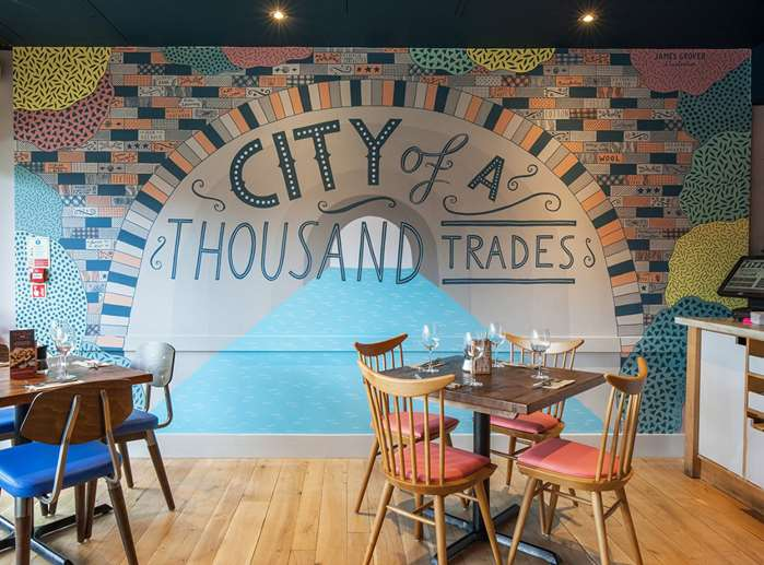 Zizzi Ristorante Birmingham is painted with the rich history of the area by James Grover