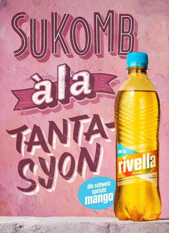 BoomArtwork - custom lettering for a Swiss Rivella Campaign