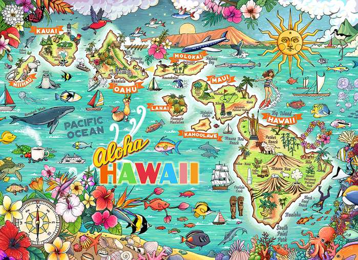 Tropical puzzle illustrated by Shanghee Shin