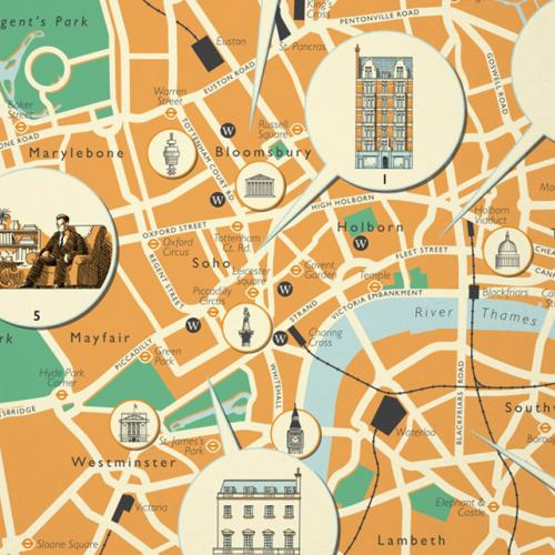 London Map for John Le Carré