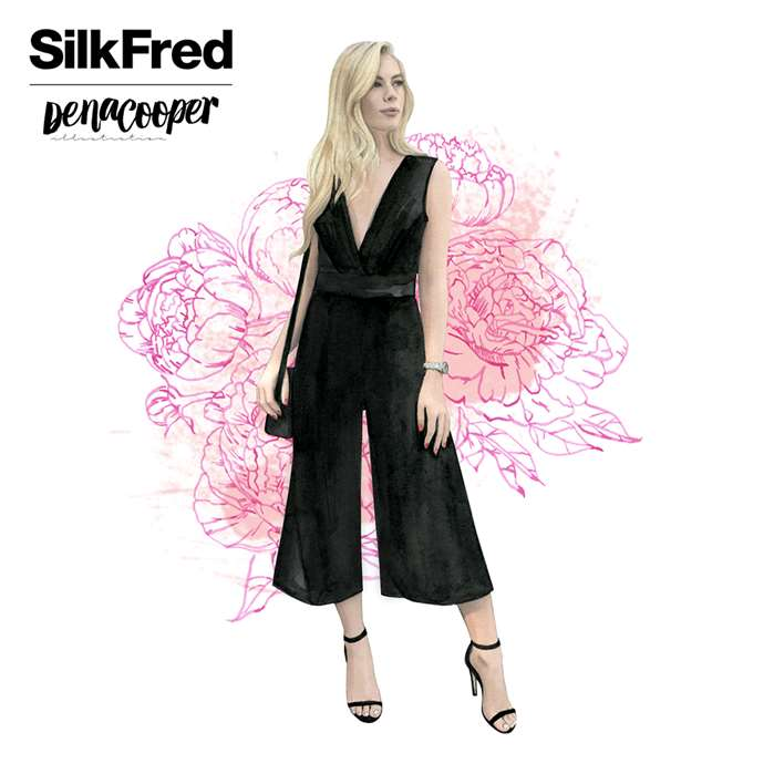 Dena Cooper collaborates with online fashion store Silk Fred on a social media campaign