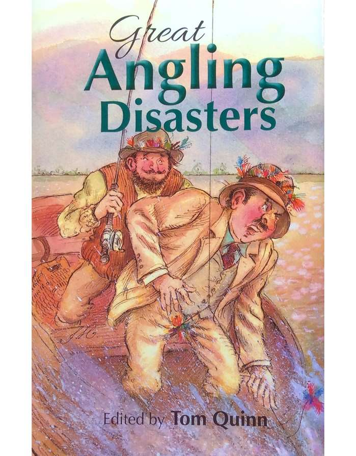Book cover illustration on fishy disasters