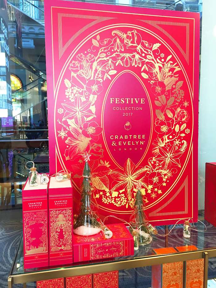 Designs ornate borders for the Crabtree & Evelyn Festive season