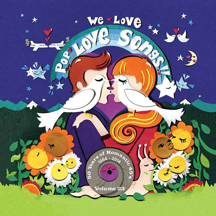 Vicky Scott works on a love themed 'We Love Pop!' CD cover