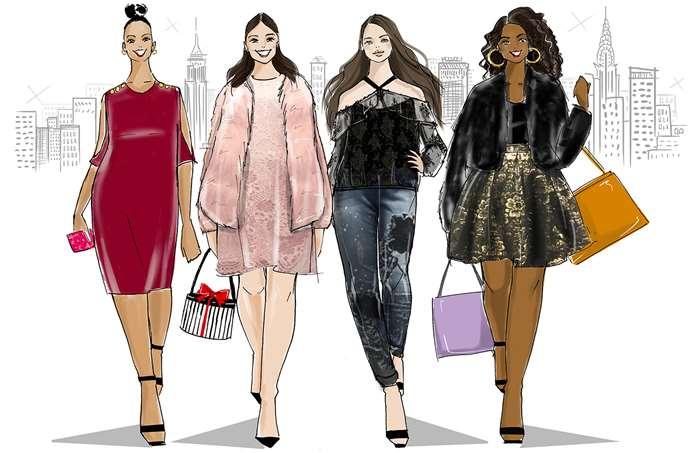 Caroline So creates plus sized women for Full Beauty's holiday season campaign