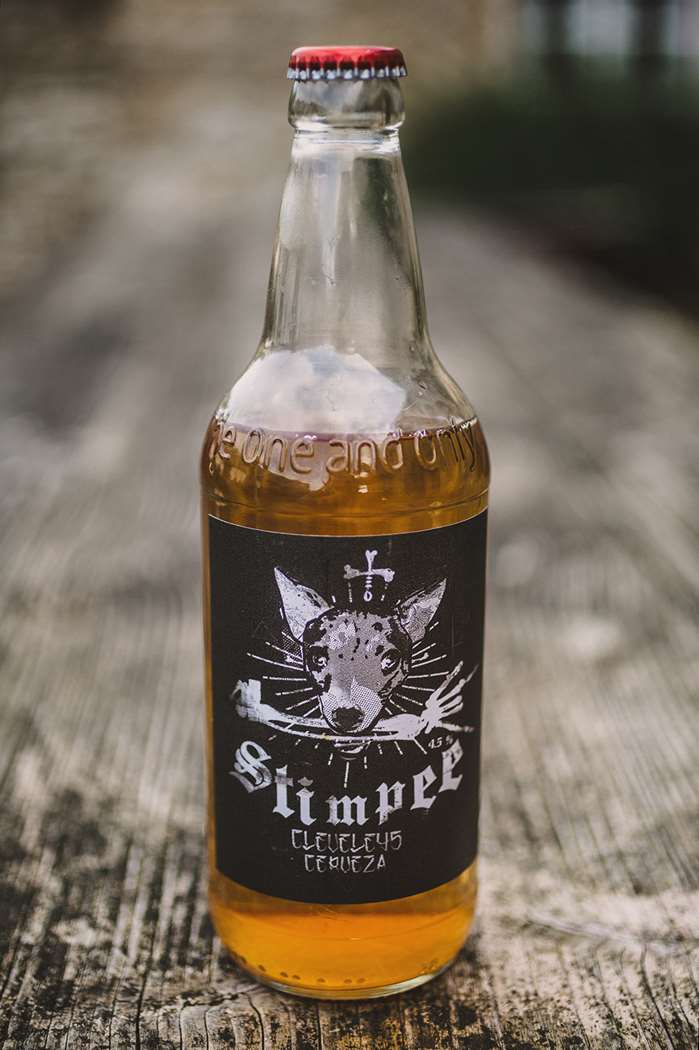 Stimpy Mexican Beer : Totally not for dogs, Danny Allison designs his own Beer Labels