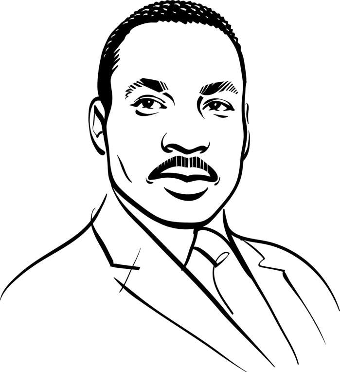 Kathryn Rathke illustrated Dr. Martin Luther King Jr. for an event held in his honour