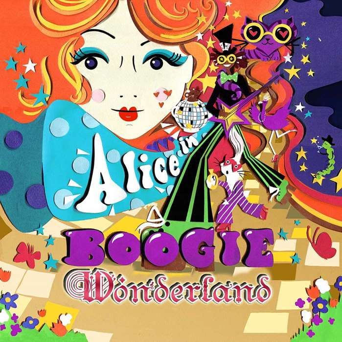 Vicky Scott uses her handmade collage skills for an upcoming Alice in Wonderland themed party