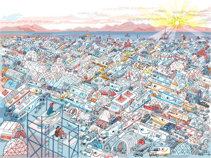 Peter Allen illustrated a unique experience at the Burning Man Festival 2017