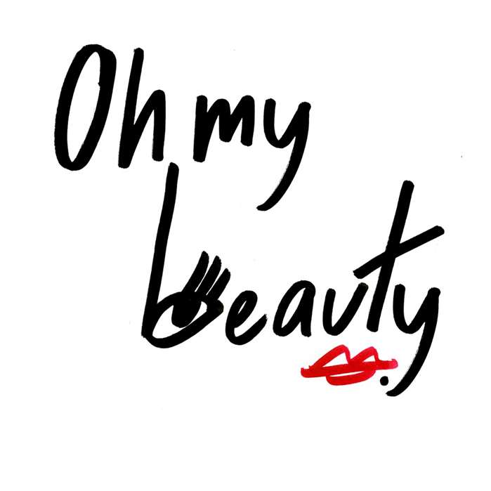 Nadia Flower Scribbles designs a logo for French online magazine 'Oh My Beauty!'